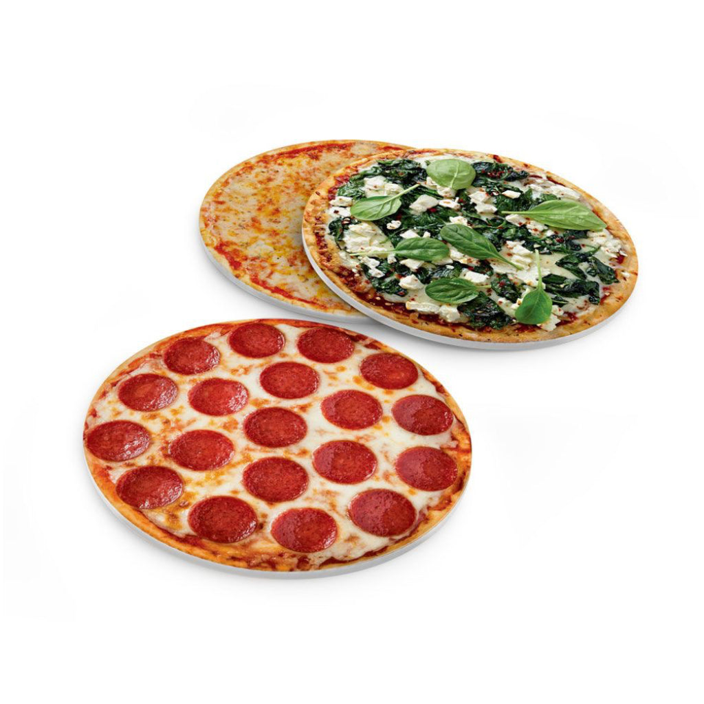 Hot & Fresh Pizza Coasters.