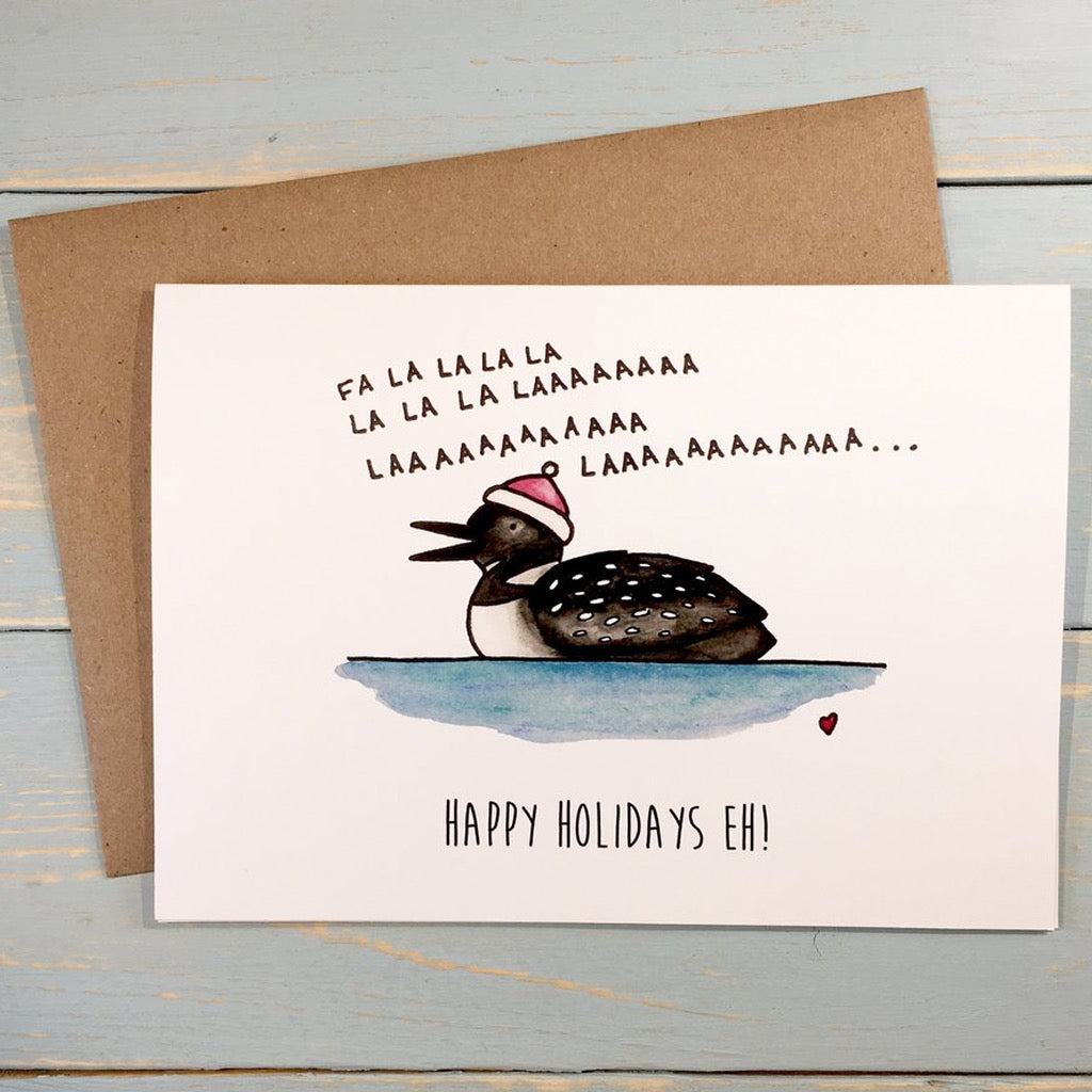 Fa La La Loon Holiday Card