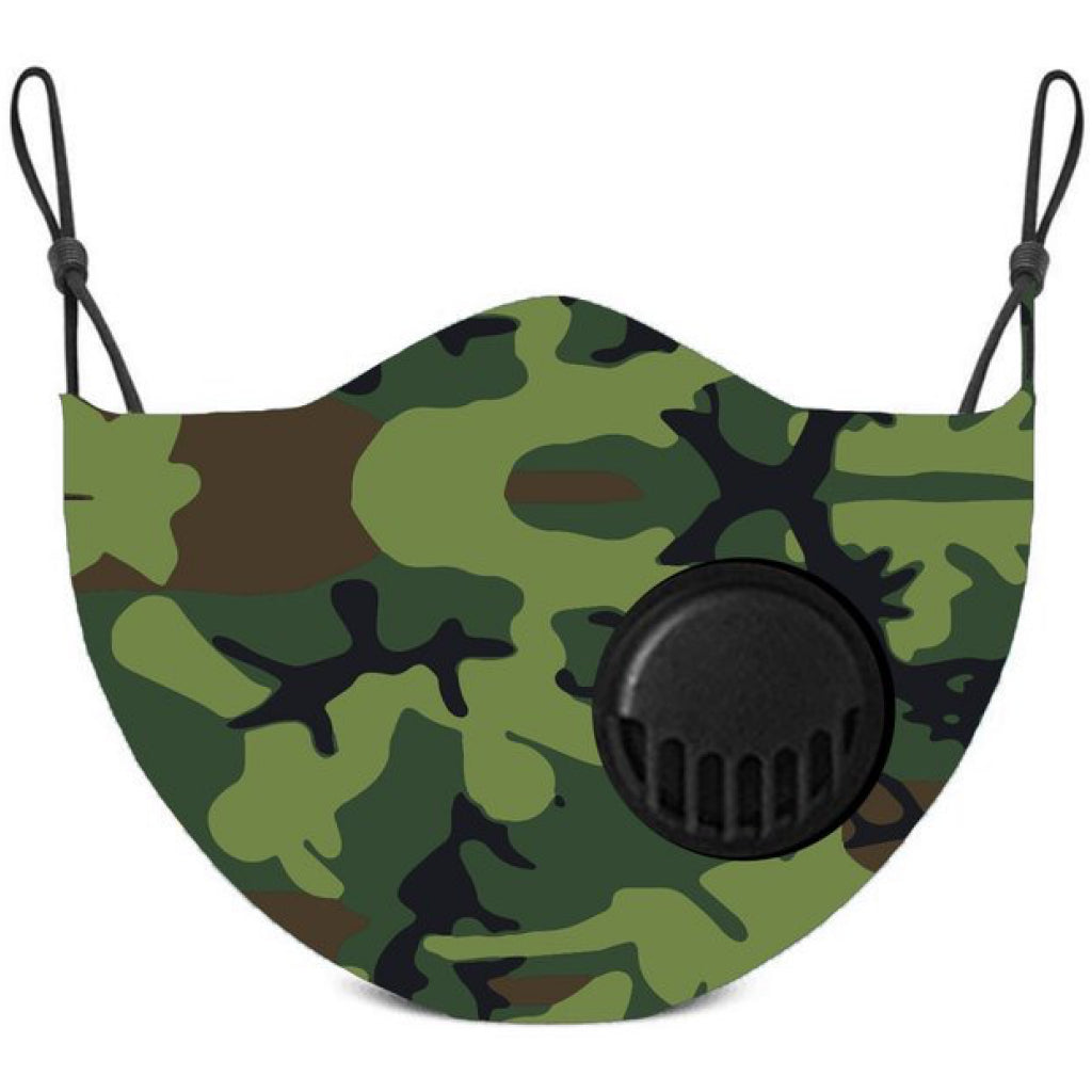 Face Mask With Filter Camo - Adult