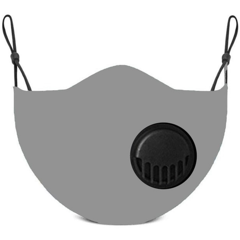 Face Mask With Filter Grey - Adult