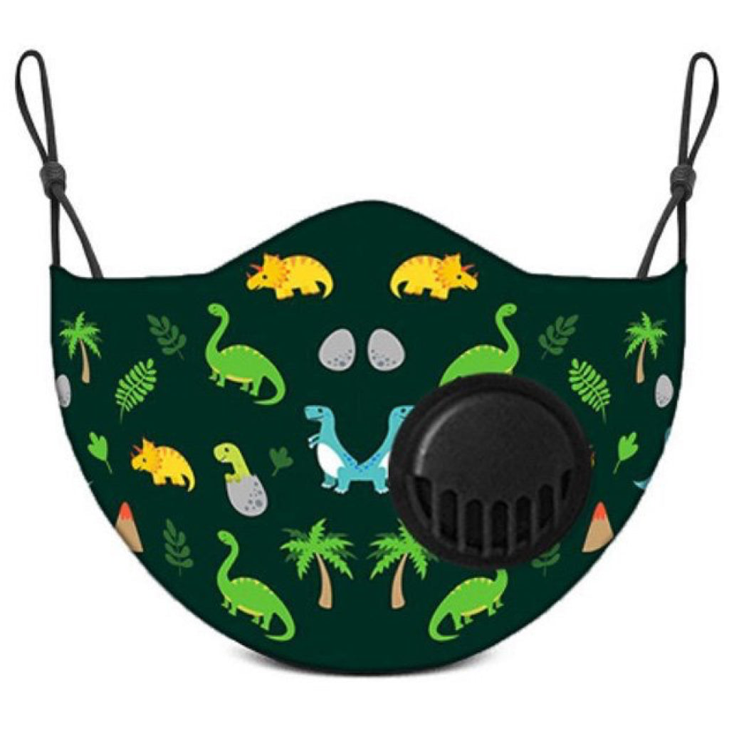 Face Mask With Filter Jurassic Jungle - Kids