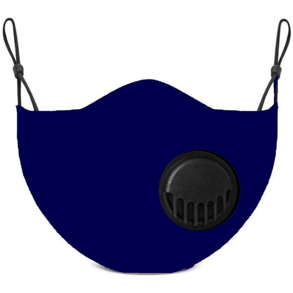 Face Mask With Filter Navy - Adult