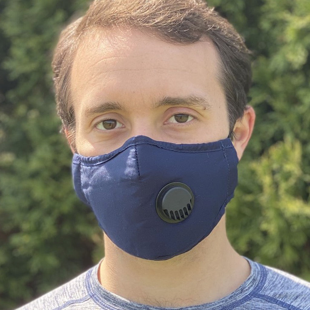 Face Mask With Filter Navy - Adult Lifestyle