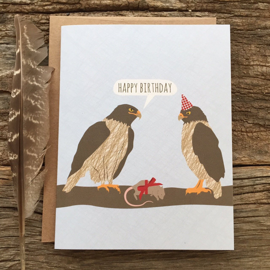 Falcon Birthday Gift Card With Envelope