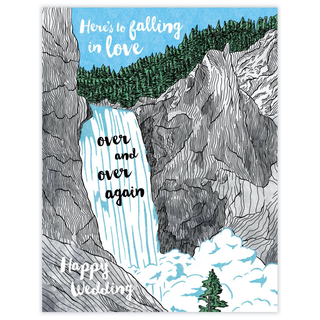 Falling In Love Wedding Card