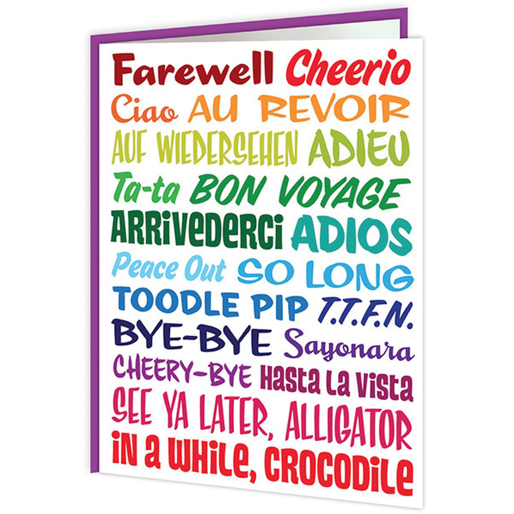 Farewell Words Card