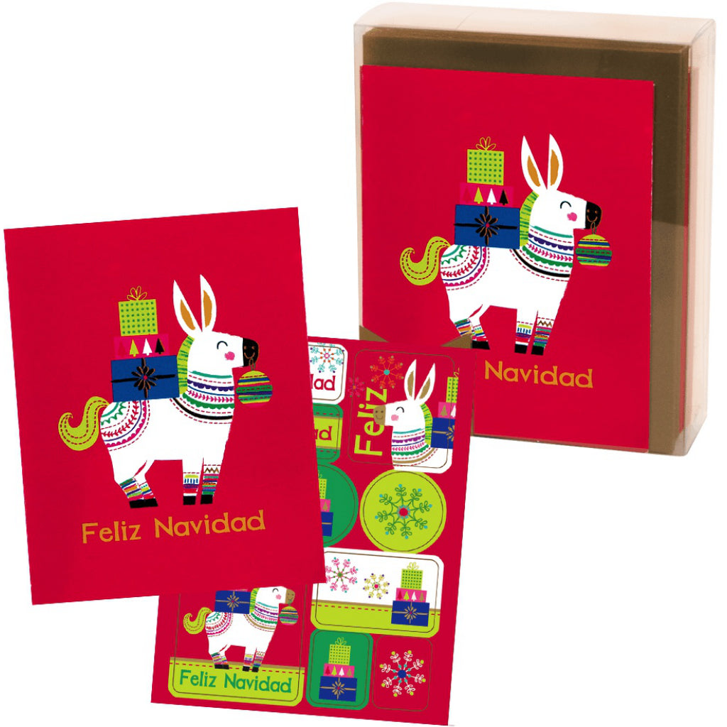 Set of Feliz Navidad Boxed Christmas Cards.