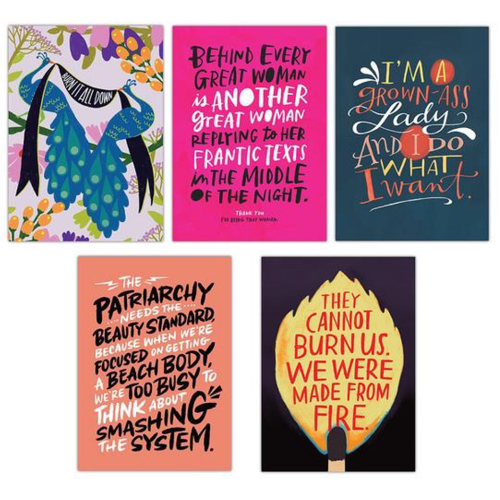 Samples of Feminism Postcard Book.