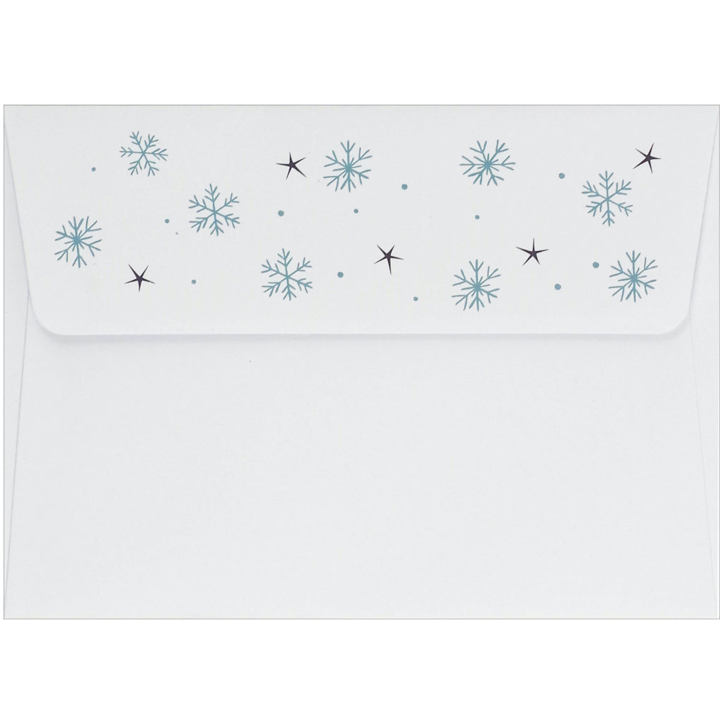 Festive Sloth Holiday Boxed Cards Envelope