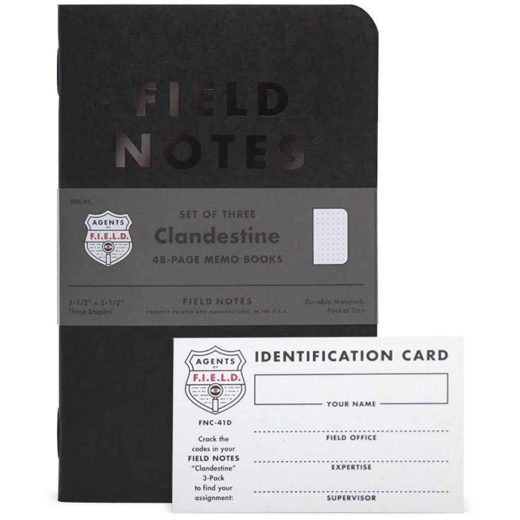 Field Note Clandestine 3-Pack