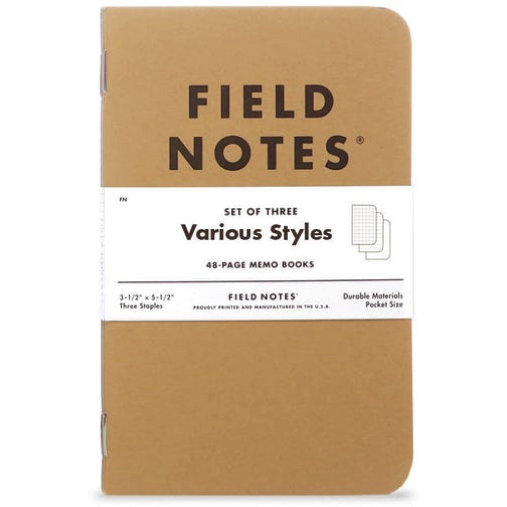 Field Notes Mixed 3pk Notebook