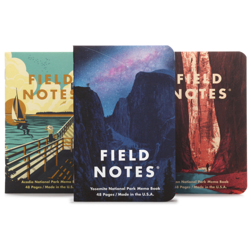 Field Notes National Parks Series A 3-Pack Notebooks