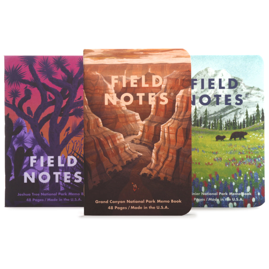 Field Notes National Parks Series B 3-Pack Notebooks