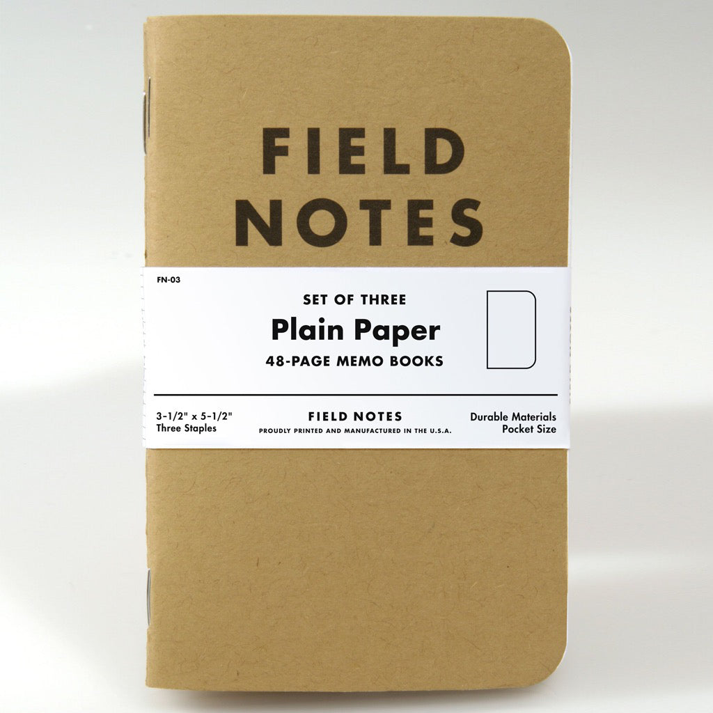 Field Notes Plain 3pk Notebooks