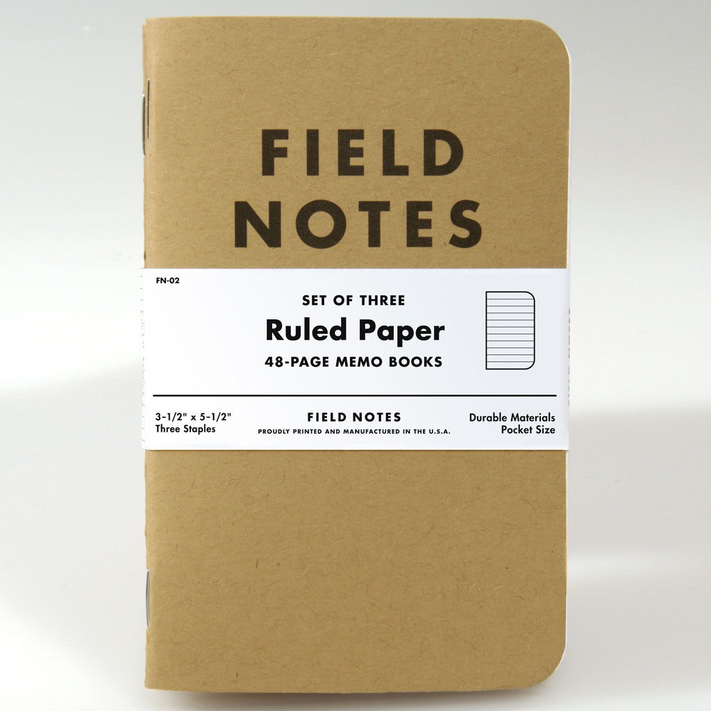 Field Notes Ruled 3pk Notebooks