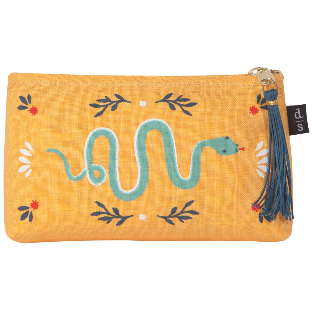 Fierce Linen Cosmetic Pencil Bag