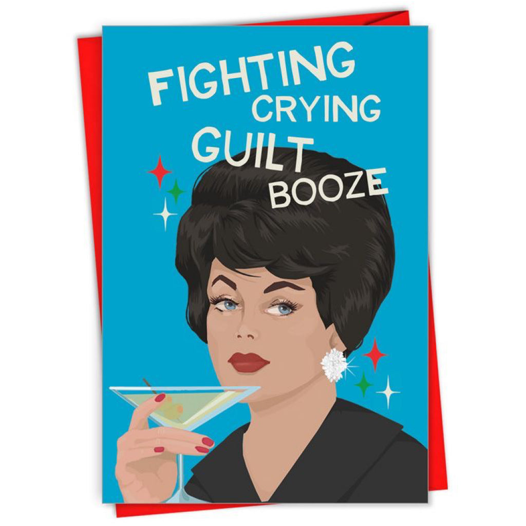 Fighting Crying Guilt Booze Card