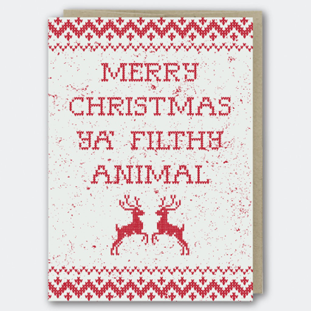 Filthy Animal Holiday Card