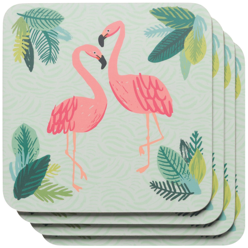 Flamingos Coasters Set of 4