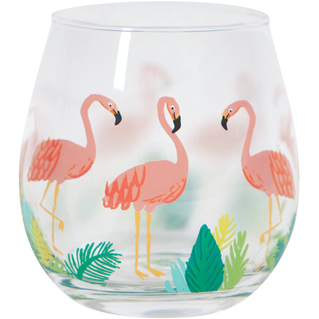 Flamingos Wine Tumbler