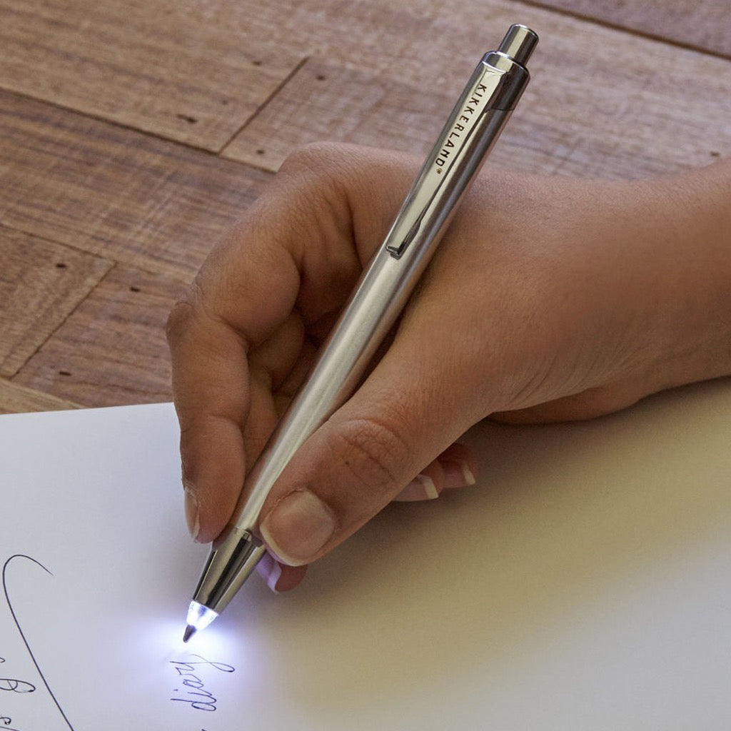 Flashlight Pen In Use