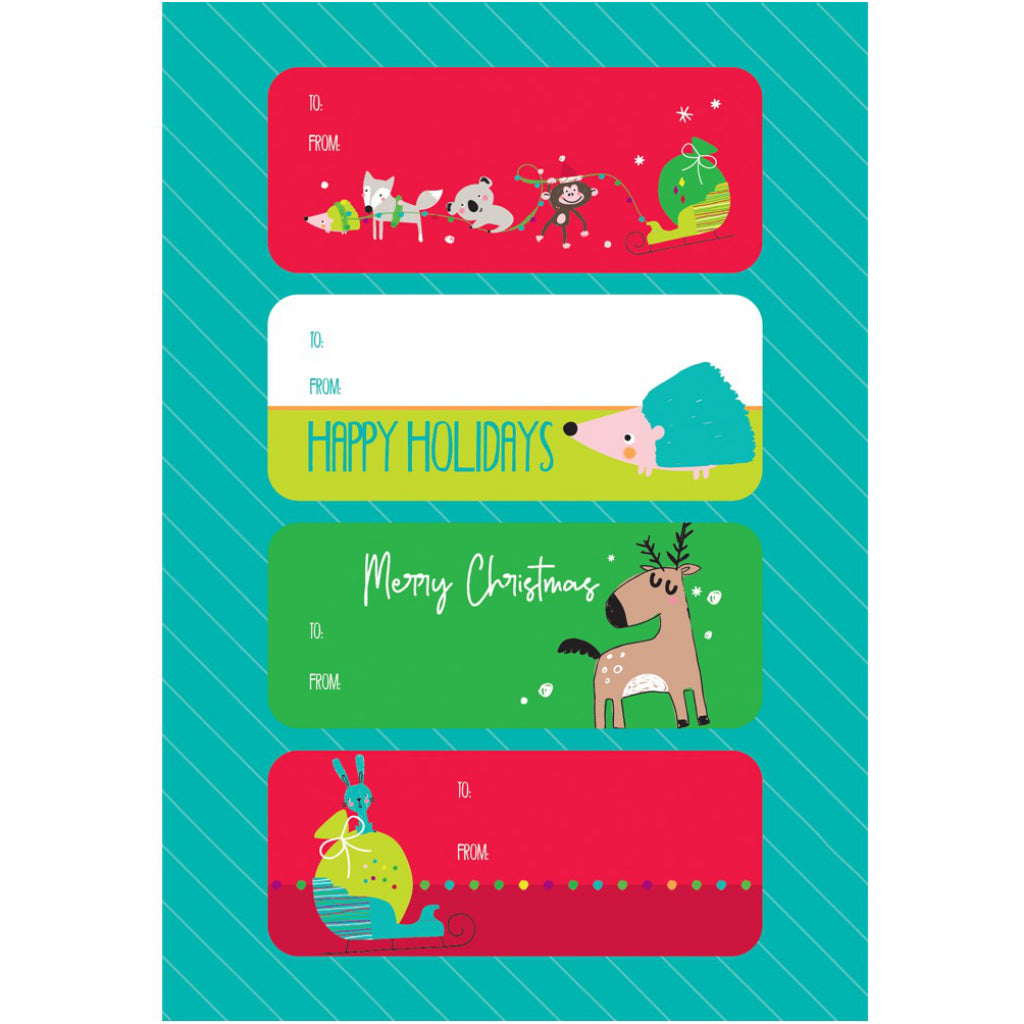 Flight of Friends Holiday stickers