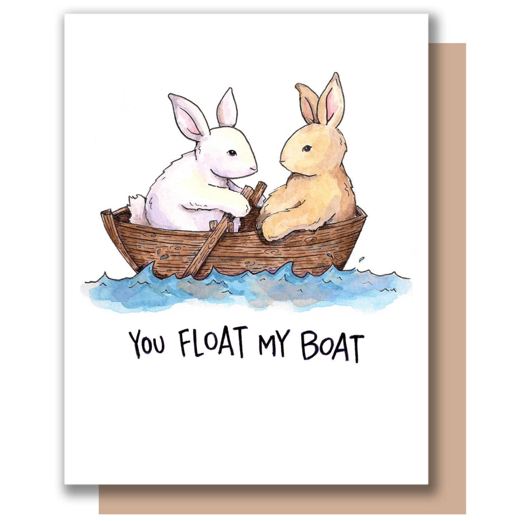 Float My Boat Bunnies Card