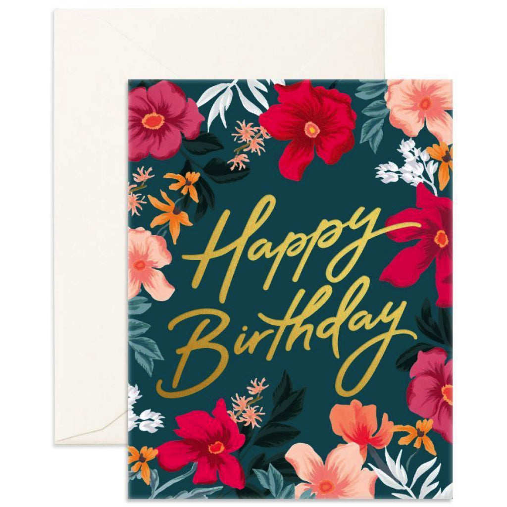 Florentine Happy Birthday Card