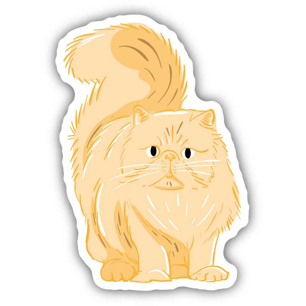 Fluffy Orange Cat Sticker
