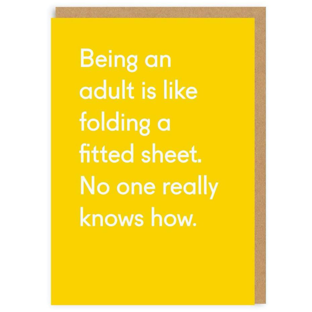 Folding a Fitted Sheet Greeting Card.