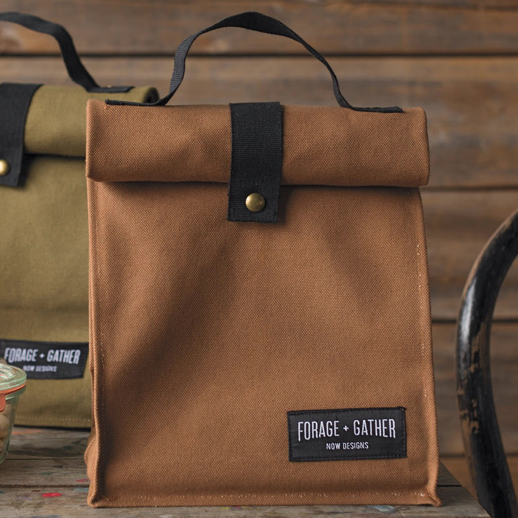 Forage & Gather Lunch Bag Brown Lifestyle