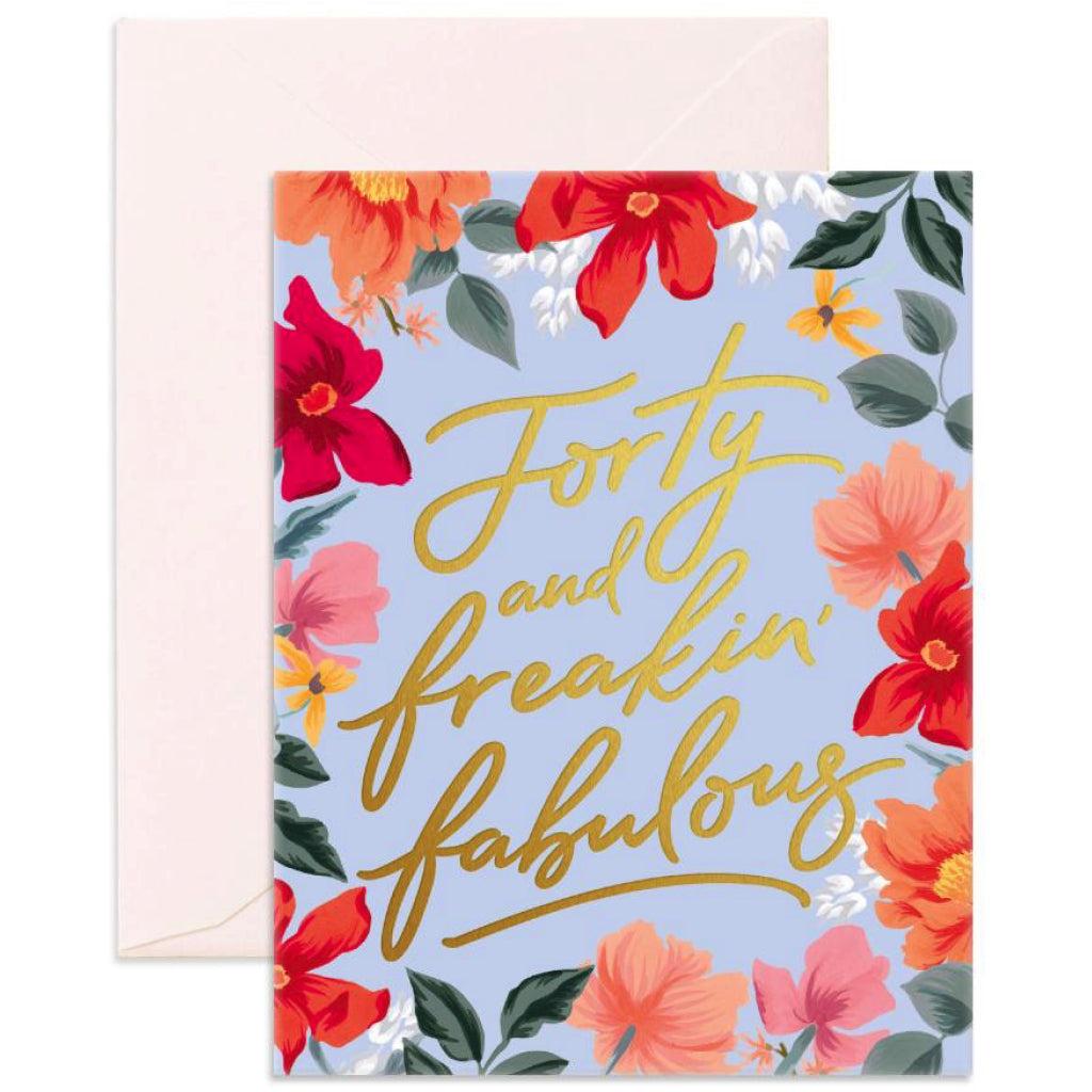 Forty & Fabulous Card
