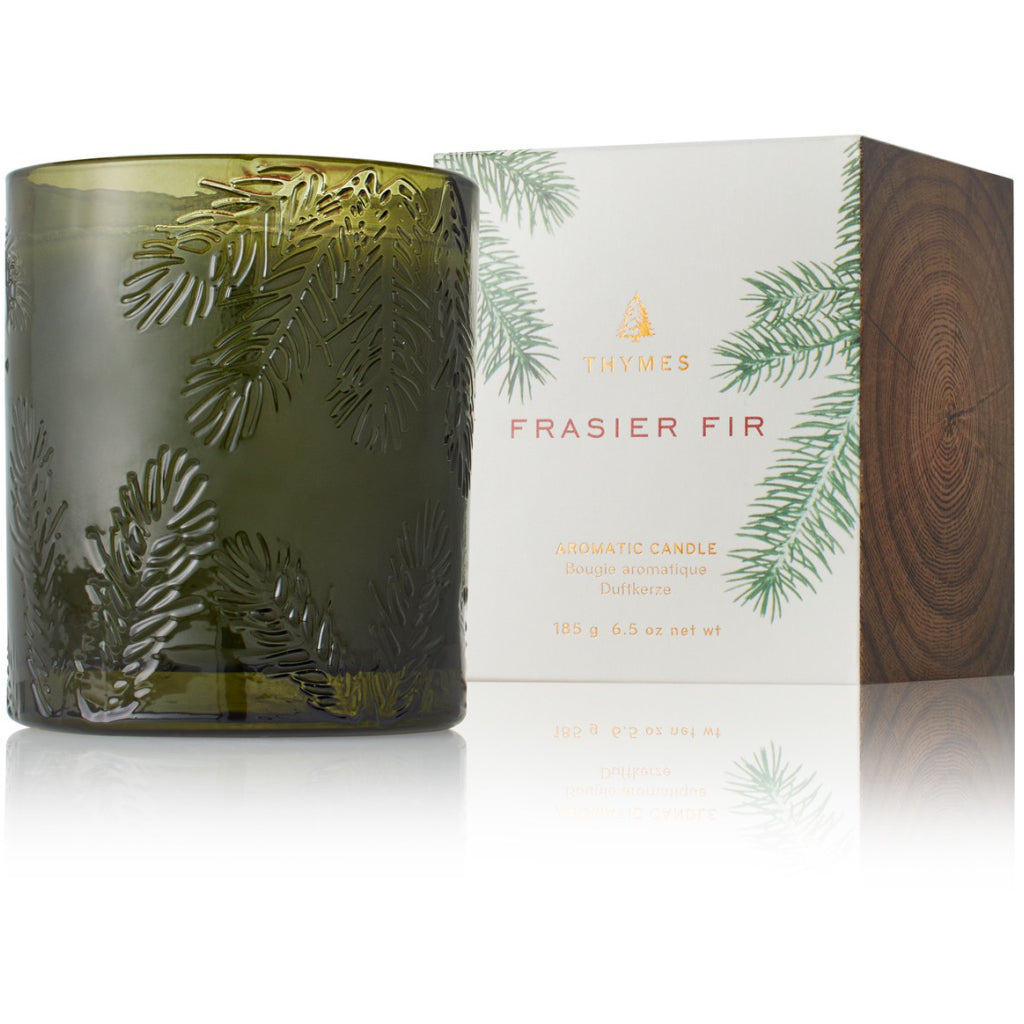 Frasier Fir Molded Glass Candle