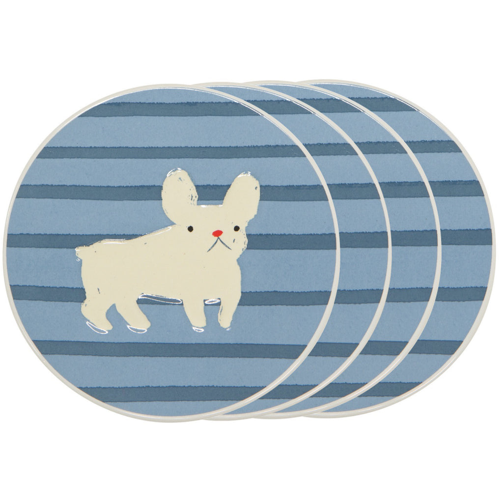 Frenchie Ceramic Coasters Set of 4
