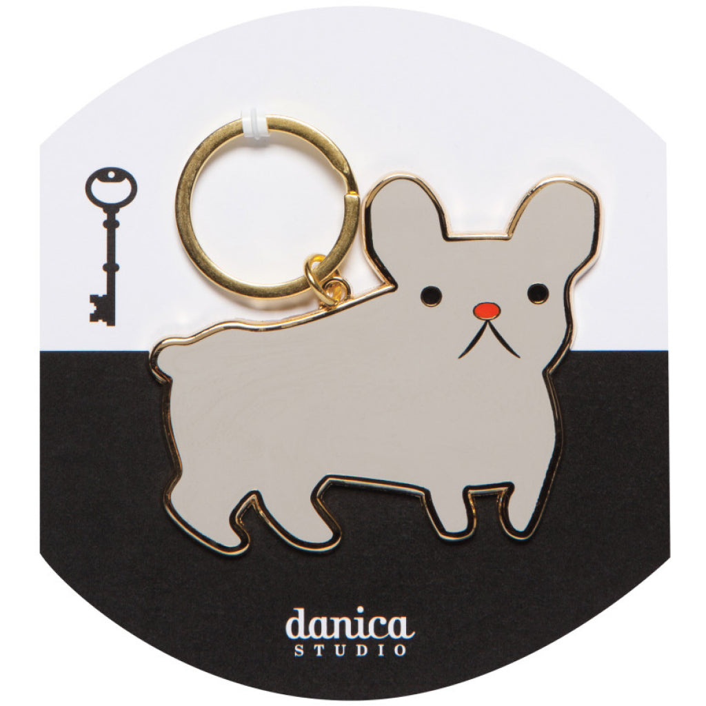 Frenchie Keychain Packaging