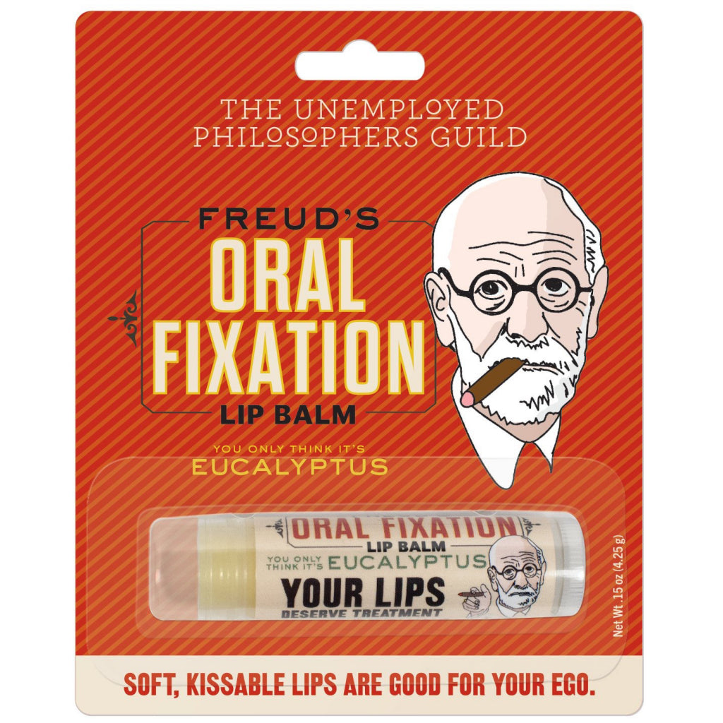 Packaging of Freud Oral Fixation Lip Balm.