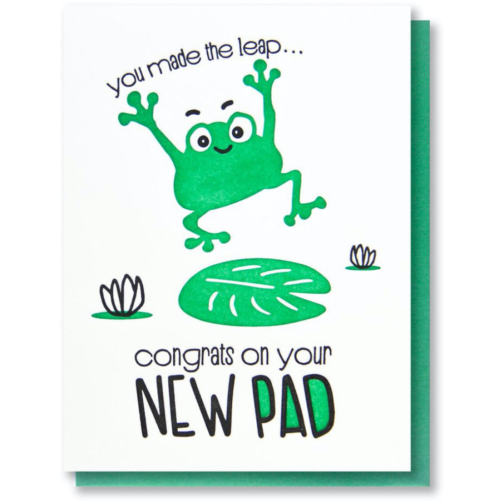 Frog Pad New Home Card