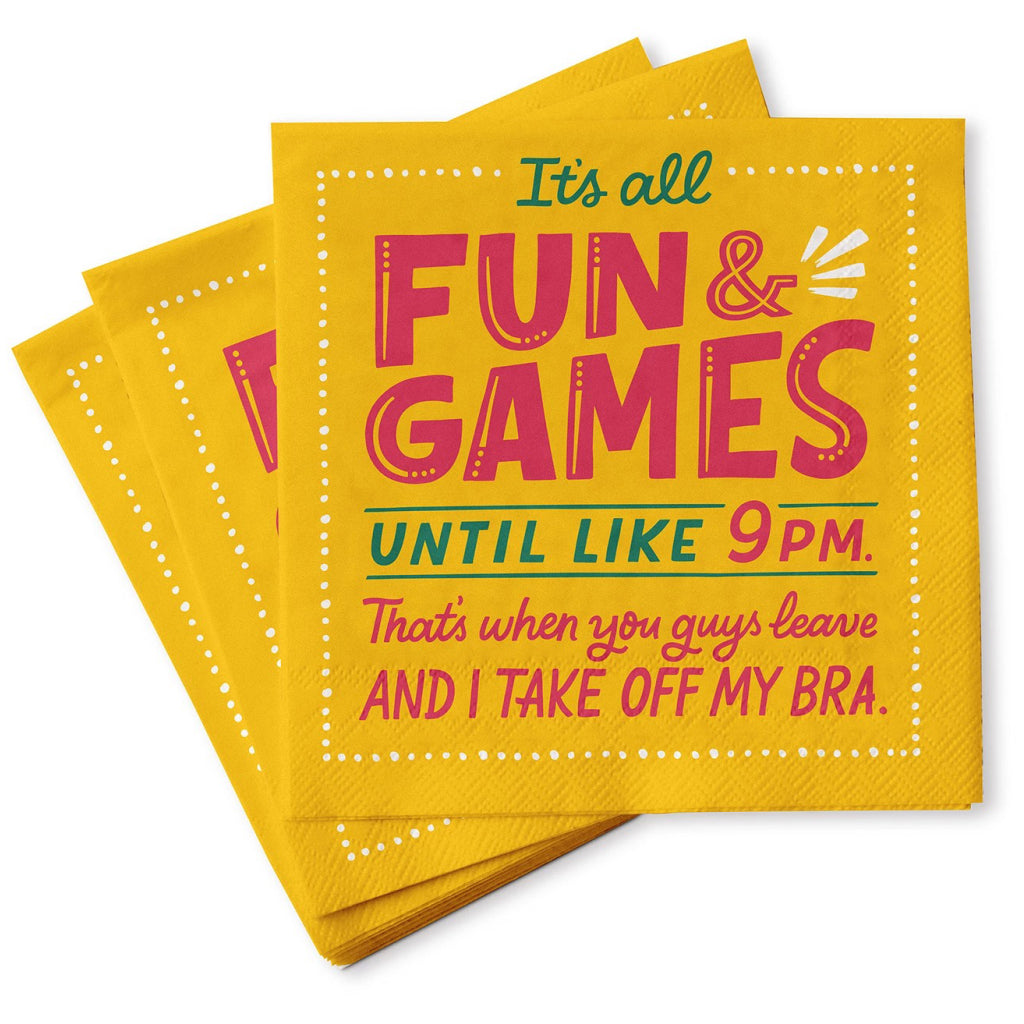 Fun and Games Cocktail Napkins