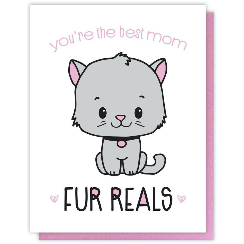 Fur Reals Cat Mom Card