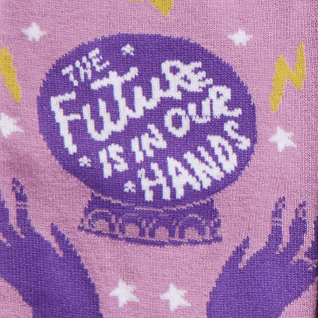 Future In Our Hands Women's Crew Sock Detail