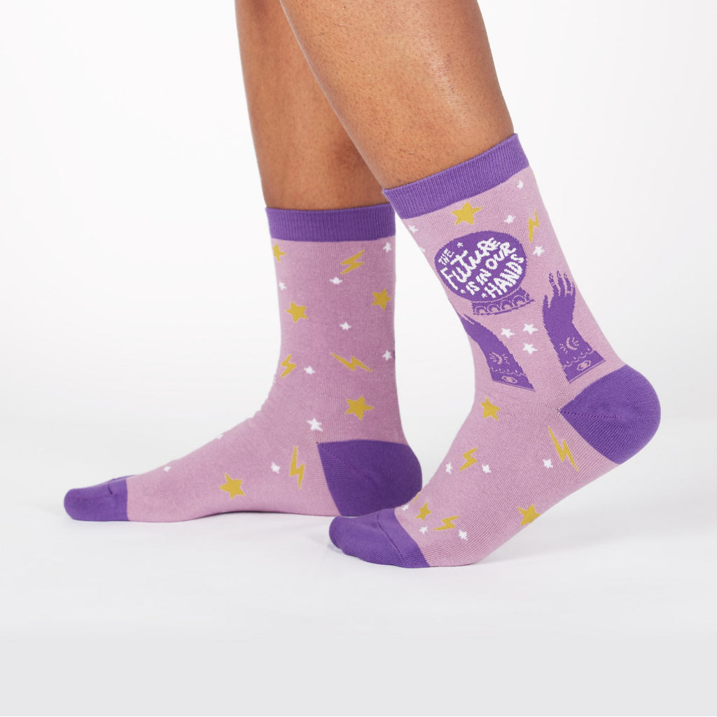 Future In Our Hands Women's Crew Socks Front