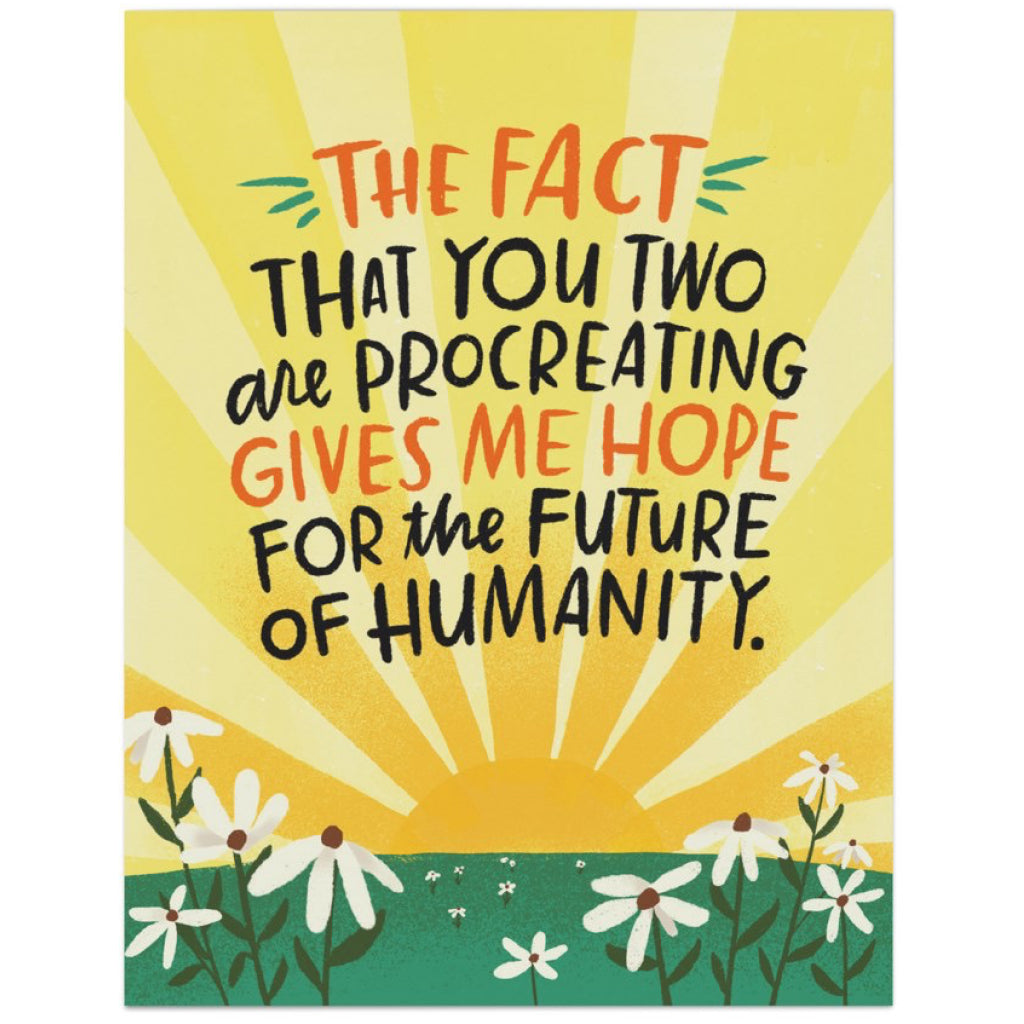Future Of Humanity Procreating Card