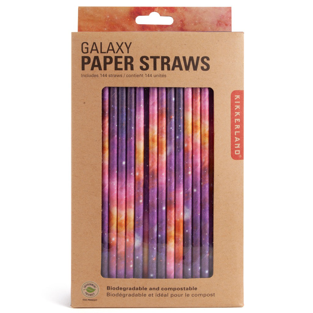 Packaging of Galaxy Paper Straws.