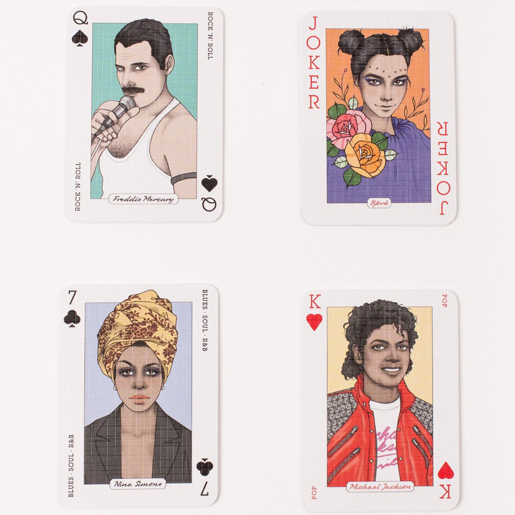Samples of Genius Music Playing Cards.