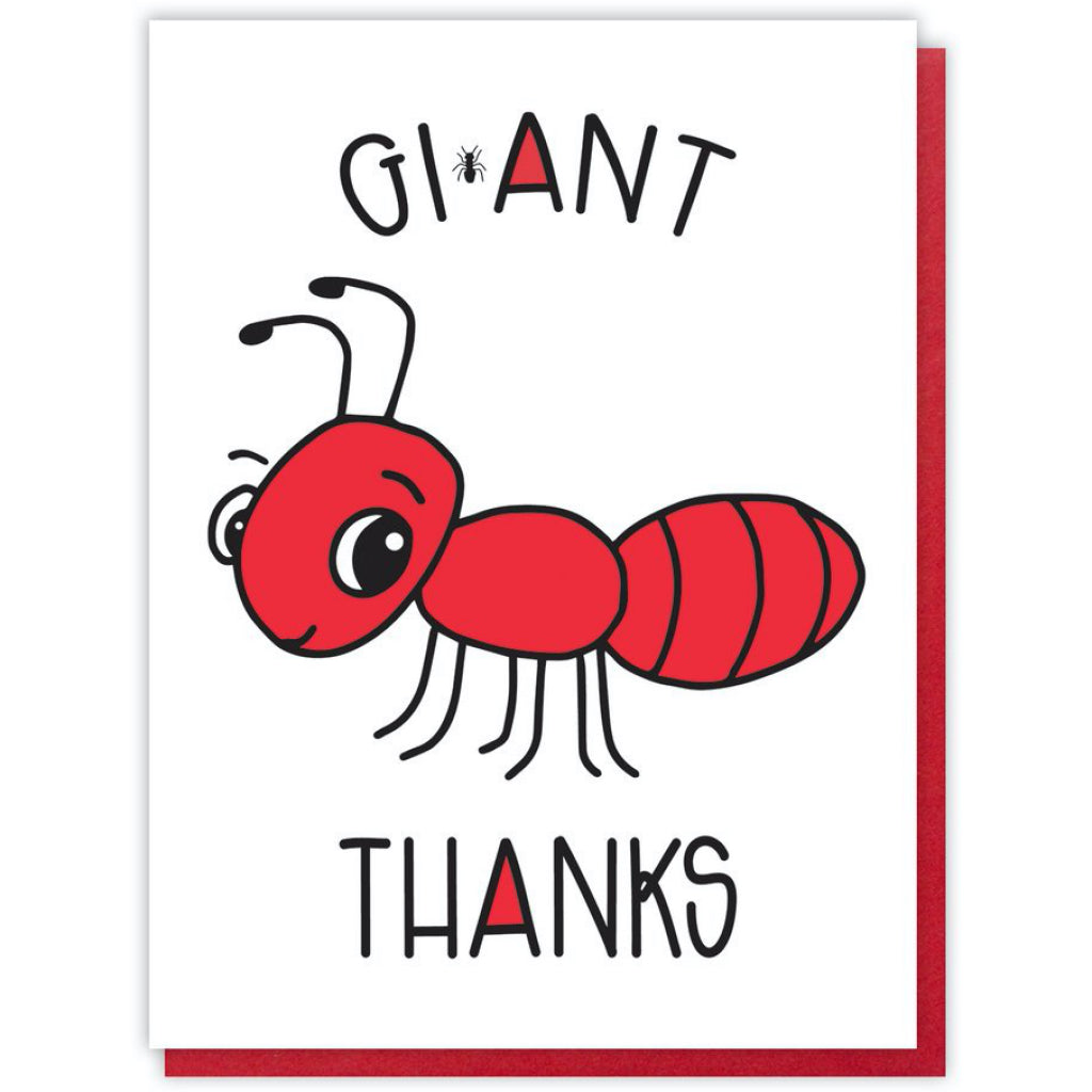 Gi-Ant Thanks Card