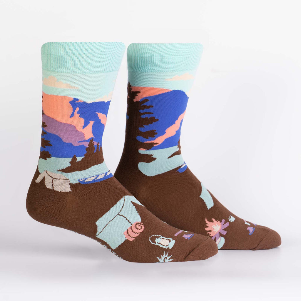 Glacier National Park Men's Crew Socks