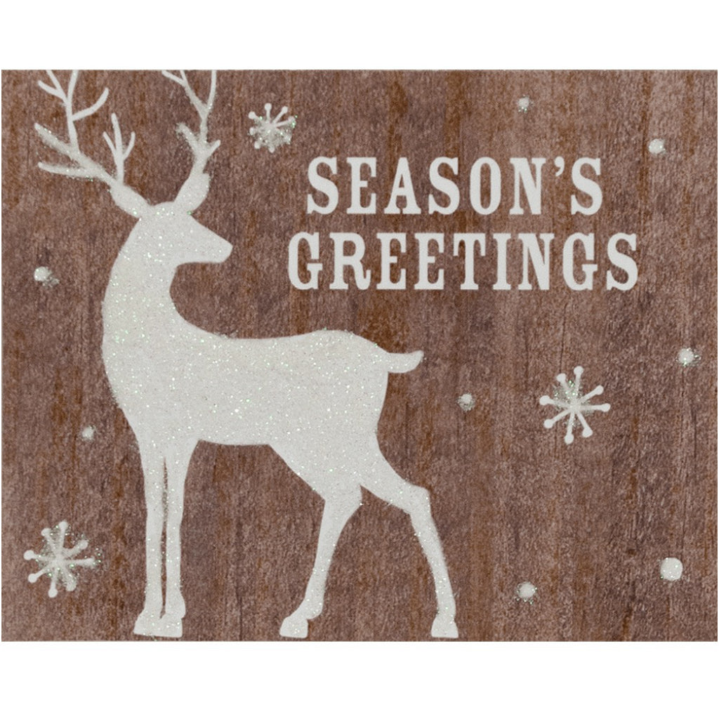 Glittered Deer Boxed Christmas Cards