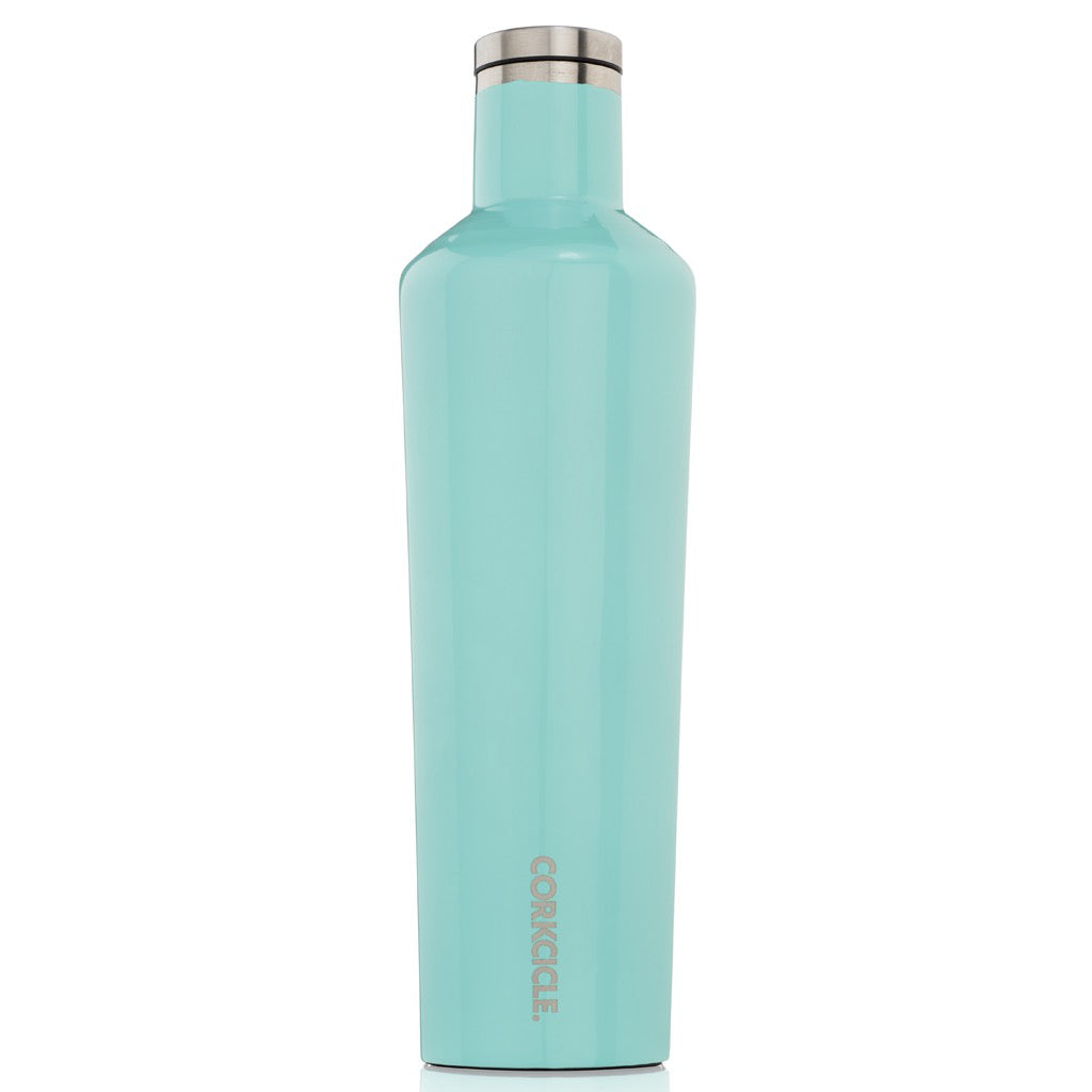 Gloss Turquoise Canteen 25oz