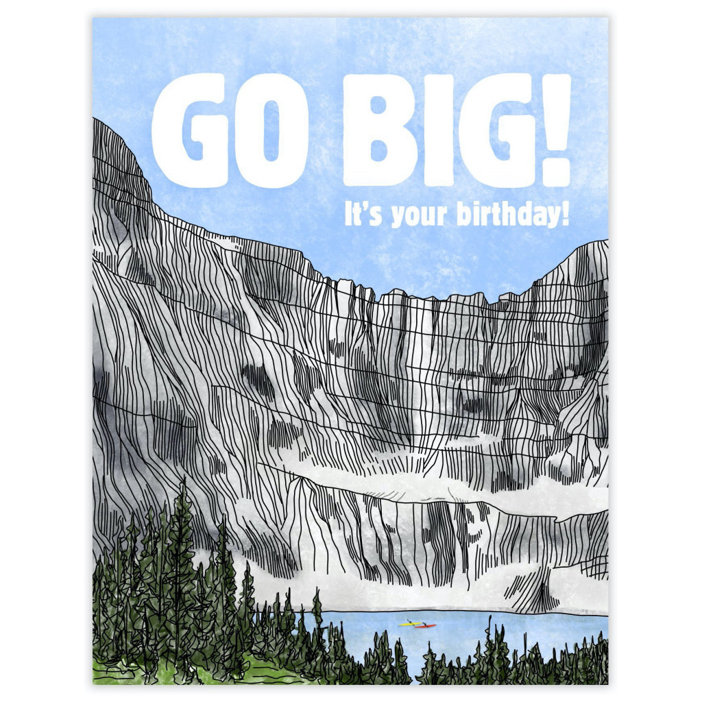 Go Big Birthday Card