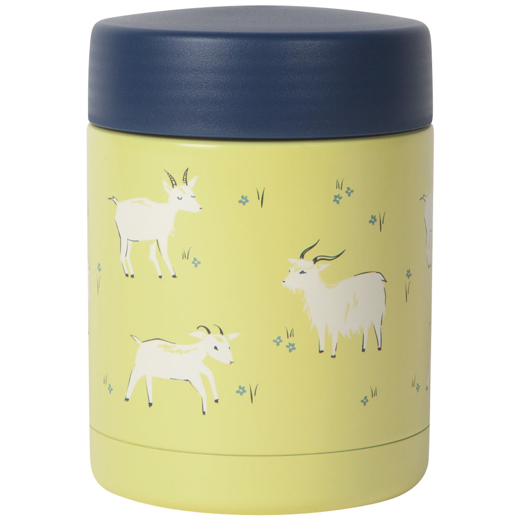 Goats Roam Small Food Jar